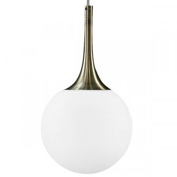 Подвесной светильник Lightstar Globo 813011, 1xE14x40W, бронза, белый, металл, стекло - миниатюра 2