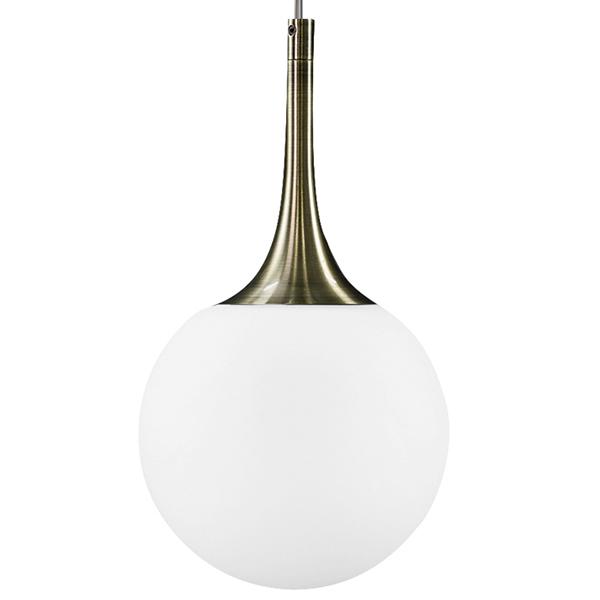 Подвесной светильник Lightstar Globo 813011, 1xE14x40W, бронза, белый, металл, стекло - фото 2