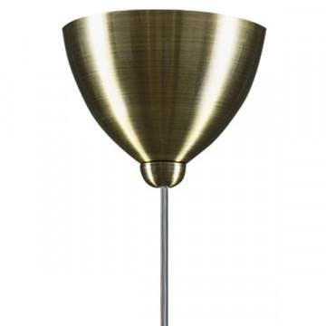 Подвесной светильник Lightstar Globo 813011, 1xE14x40W, бронза, белый, металл, стекло - миниатюра 3