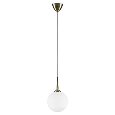 Подвесной светильник Lightstar Globo 813021, 1xE14x40W, бронза, белый, металл, стекло