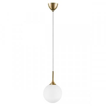 Подвесной светильник Lightstar Globo 813022, 1xE14x40W, матовое золото, белый, металл, стекло