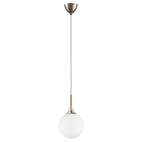 Подвесной светильник Lightstar Globo 813023, 1xE14x40W, янтарь, белый, металл, стекло