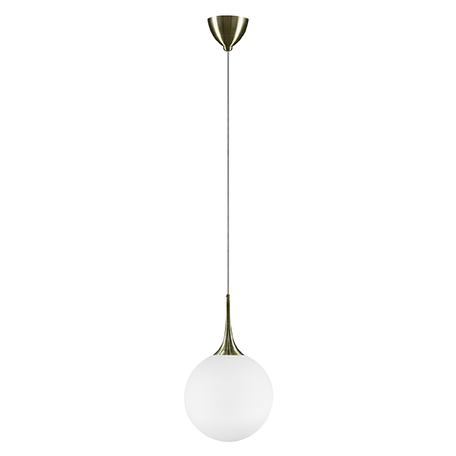 Подвесной светильник Lightstar Globo 813031, 1xE14x40W, бронза, белый, металл, стекло