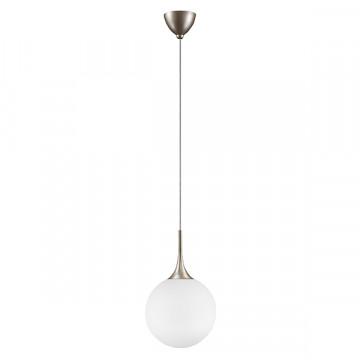 Подвесной светильник Lightstar Globo 813033, 1xE14x40W, янтарь, белый, металл, стекло