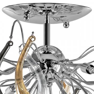 Потолочная люстра Lightstar Manica 794124, 12xG9x40W, хром, дымчатый, янтарь, металл, стекло - миниатюра 4