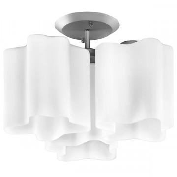 Потолочная люстра Lightstar Nubi 802030, 3xE27x40W, матовый хром, белый, металл, стекло