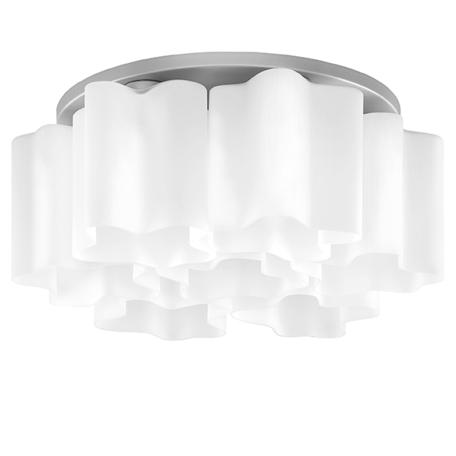 Потолочная люстра Lightstar Nubi 802070, 7xE27x40W, матовый хром, белый, металл, стекло