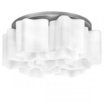 Потолочная люстра Lightstar Nubi Ondoso 802071, 7xE27x40W, матовый хром, белый, металл, стекло