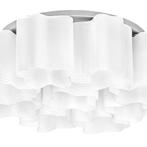 Потолочная люстра Lightstar Nubi Ondoso 802091, 9xE27x40W, матовый хром, белый, металл, стекло - фото 2