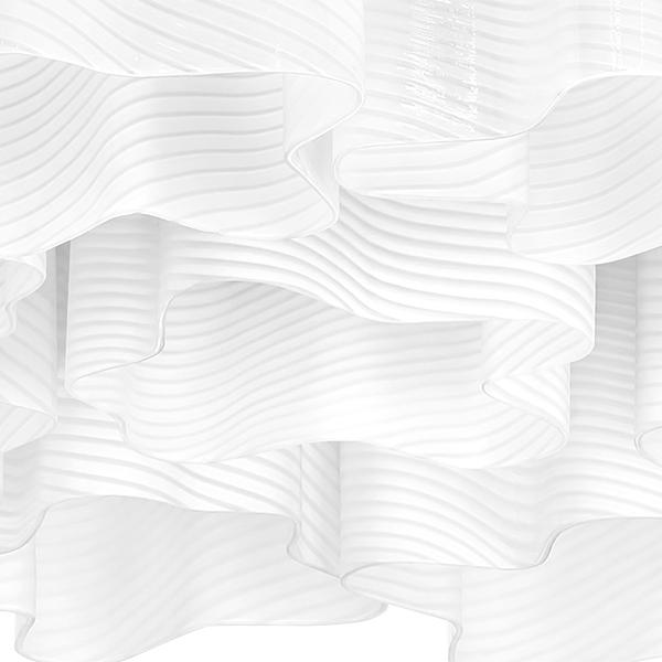 Потолочная люстра Lightstar Nubi Ondoso 802091, 9xE27x40W, матовый хром, белый, металл, стекло - фото 4