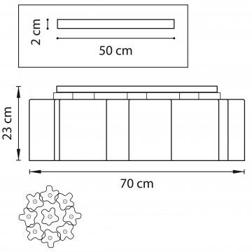 Схема с размерами Lightstar 802091