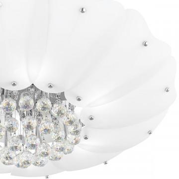 Потолочная люстра Lightstar Lobo 804040, 9xG9x40W, хром, белый, прозрачный, металл, стекло, хрусталь - миниатюра 4