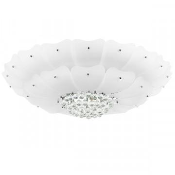 Потолочная люстра Lightstar Lobo 804070, 18xG9x40W, хром, белый, прозрачный, металл, стекло, хрусталь