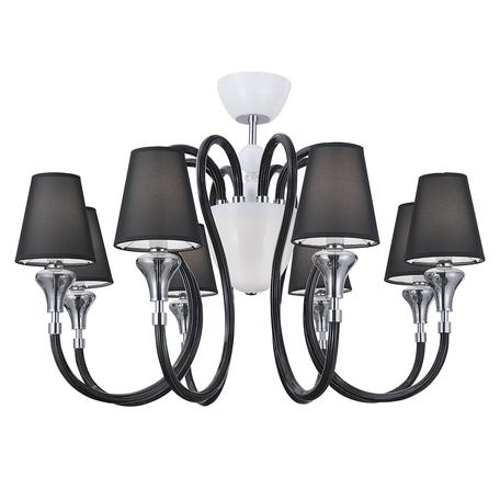 Потолочная люстра Lightstar Otto 809087, 8xE14x40W +  1xG9x40W, белый, дымчатый, хром, черный, стекло, текстиль