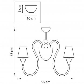 Схема с размерами Lightstar 809087