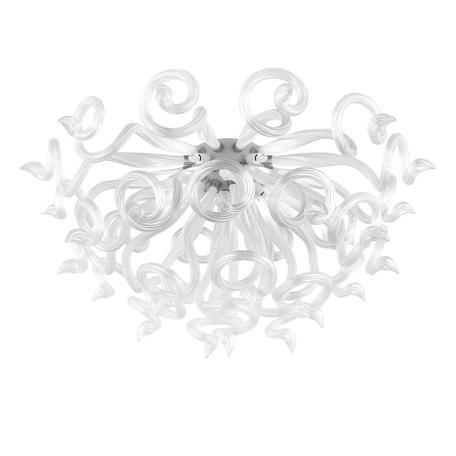 Потолочная люстра Lightstar Medusa 890090, 9xG9x40W, хром, белый, металл, стекло