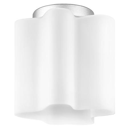 Потолочный светильник Lightstar Nubi 802010, 1xE27x40W, матовый хром, белый, металл, стекло