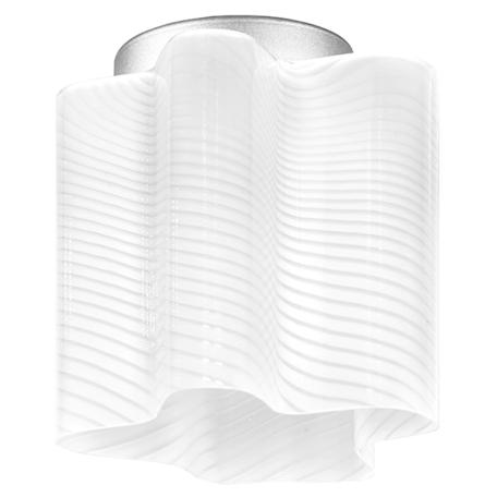 Потолочный светильник Lightstar Nubi Ondoso 802011, 1xE27x40W, матовый хром, белый, металл, стекло
