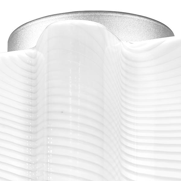 Потолочный светильник Lightstar Nubi Ondoso 802011, 1xE27x40W, матовый хром, белый, металл, стекло - фото 3