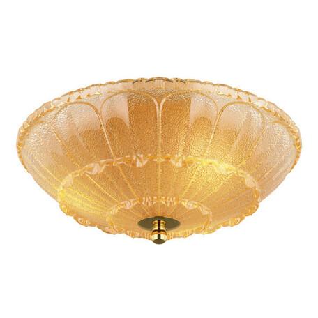 Потолочный светильник Lightstar Zucche 820232, 3xE14x60W, золото, янтарь, металл, стекло