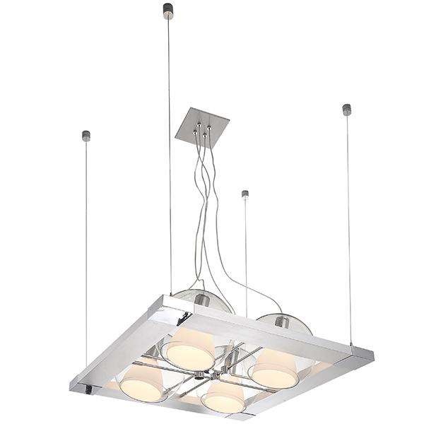 Подвесная люстра с регулировкой направления света Lightstar Palla 803141, 4xE14x40W, хром, белый, прозрачный, металл, стекло - фото 1