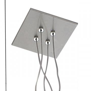 Подвесная люстра с регулировкой направления света Lightstar Palla 803141, 4xE14x40W, хром, белый, прозрачный, металл, стекло - миниатюра 3