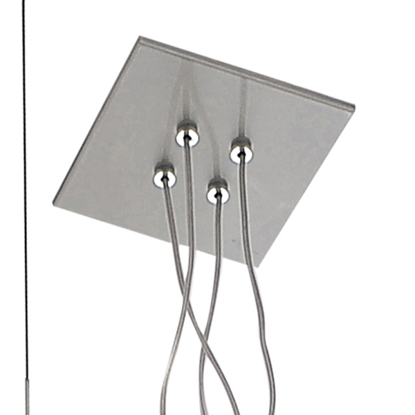 Подвесная люстра с регулировкой направления света Lightstar Palla 803141, 4xE14x40W, хром, белый, прозрачный, металл, стекло - фото 3