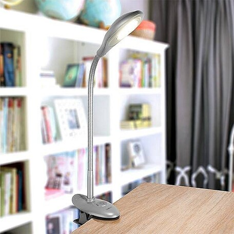 Настольная светодиодная лампа Eurosvet Smart 90198/1 серебристый, LED 5W, 4200K (холодный)