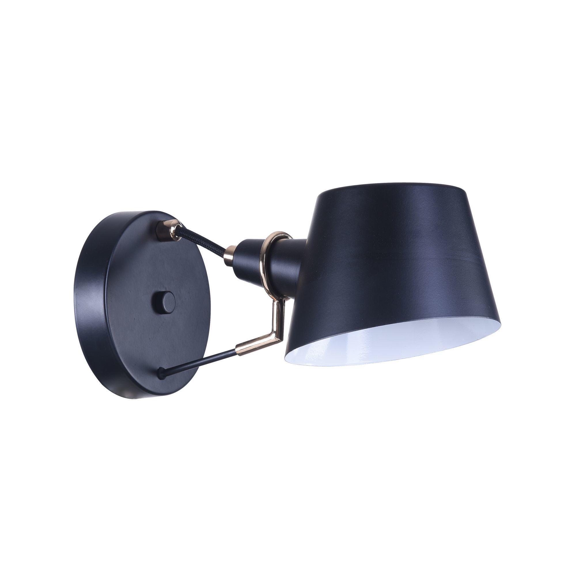 Бра Freya Abigail FR5038-WL-01-B, 1xE14x40W, черный, металл - фото 2