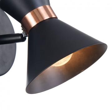 Настенный светильник с регулировкой направления света Freya Izzy FR4273-WL-01-B, 1xE14x40W, черный, медь, металл - миниатюра 10