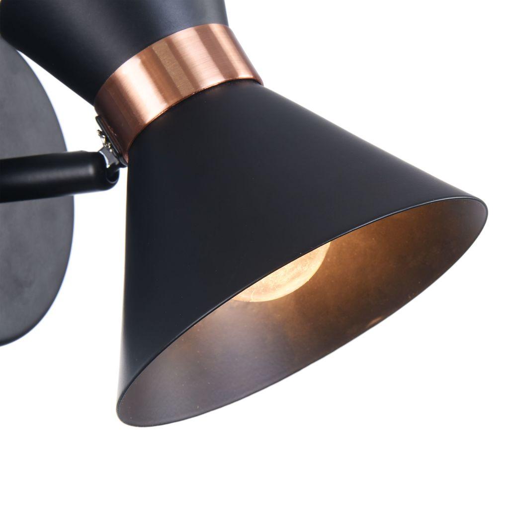 Настенный светильник с регулировкой направления света Freya Izzy FR4273-WL-01-B, 1xE14x40W, черный, медь, металл - фото 10