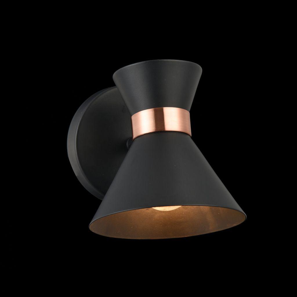 Настенный светильник с регулировкой направления света Freya Izzy FR4273-WL-01-B, 1xE14x40W, черный, медь, металл - фото 3