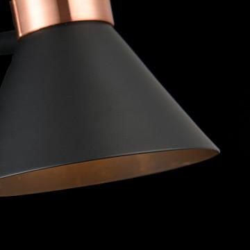 Настенный светильник с регулировкой направления света Freya Izzy FR4273-WL-01-B, 1xE14x40W, черный, медь, металл - миниатюра 6