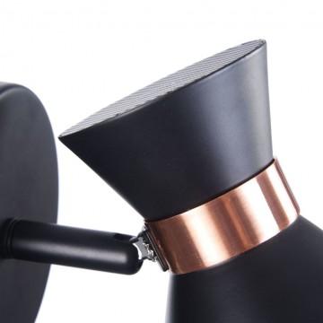 Настенный светильник с регулировкой направления света Freya Izzy FR4273-WL-01-B, 1xE14x40W, черный, медь, металл - миниатюра 9