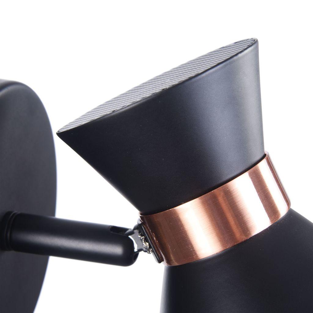 Настенный светильник с регулировкой направления света Freya Izzy FR4273-WL-01-B, 1xE14x40W, черный, медь, металл - фото 9