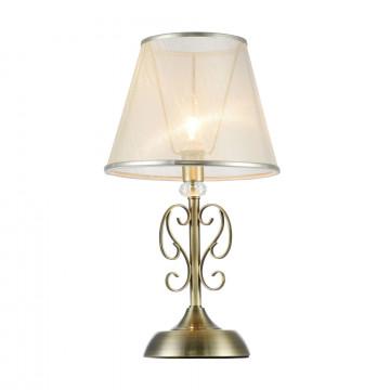 Настольная лампа Freya Classic Driana FR2405-TL-01-BS, 1xE14x40W, бронза с прозрачным, прозрачный с бронзой, металл с хрусталем, текстиль