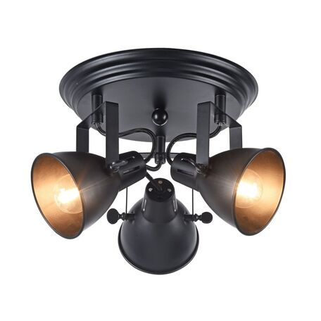 Потолочная люстра с регулировкой направления света Freya Ibbi FR4276-CL-03R-B, 3xE14x40W, черный, металл