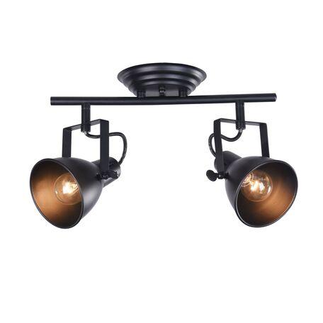 Потолочный светильник с регулировкой направления света Freya Ibbi FR4276-CW-02-B, 2xE14x40W, черный, металл - миниатюра 1