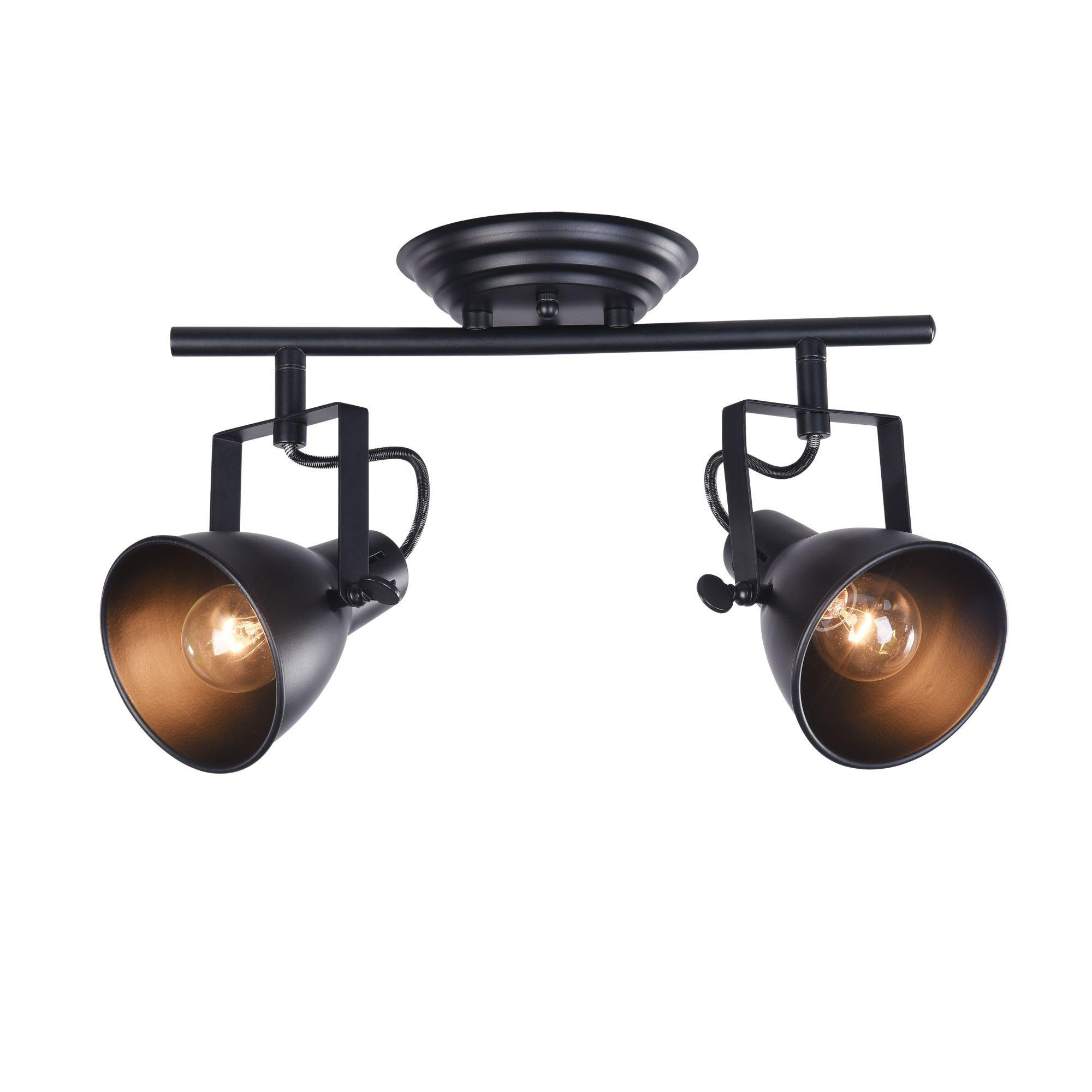 Потолочный светильник с регулировкой направления света Freya Ibbi FR4276-CW-02-B, 2xE14x40W, черный, металл - фото 1