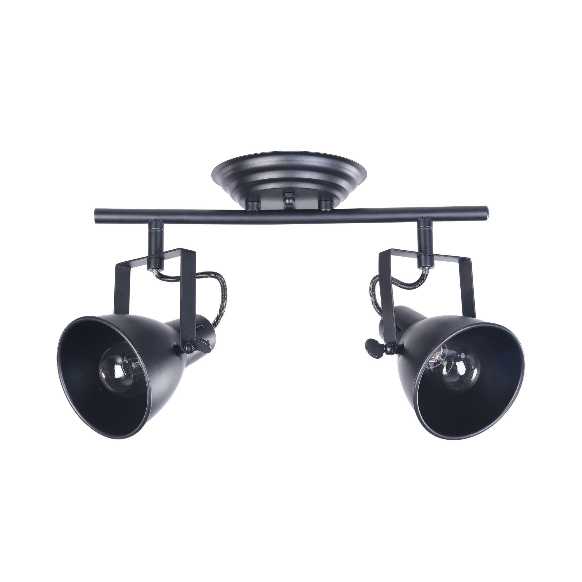 Потолочный светильник с регулировкой направления света Freya Ibbi FR4276-CW-02-B, 2xE14x40W, черный, металл - фото 2