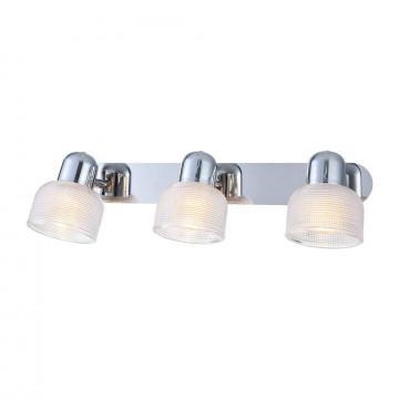Потолочный светильник с регулировкой направления света Freya Debora FR5344-WL-03-CH, 3xE14x40W, хром, прозрачный, металл, стекло