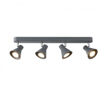 Потолочный светильник с регулировкой направления света Freya Claris FR4308-CW-04-GR, 4xGU10x35W
