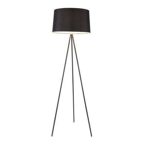 Торшер Freya Bonita FR5152-FL-01-B, 1xE27x40W, черный, металл, текстиль