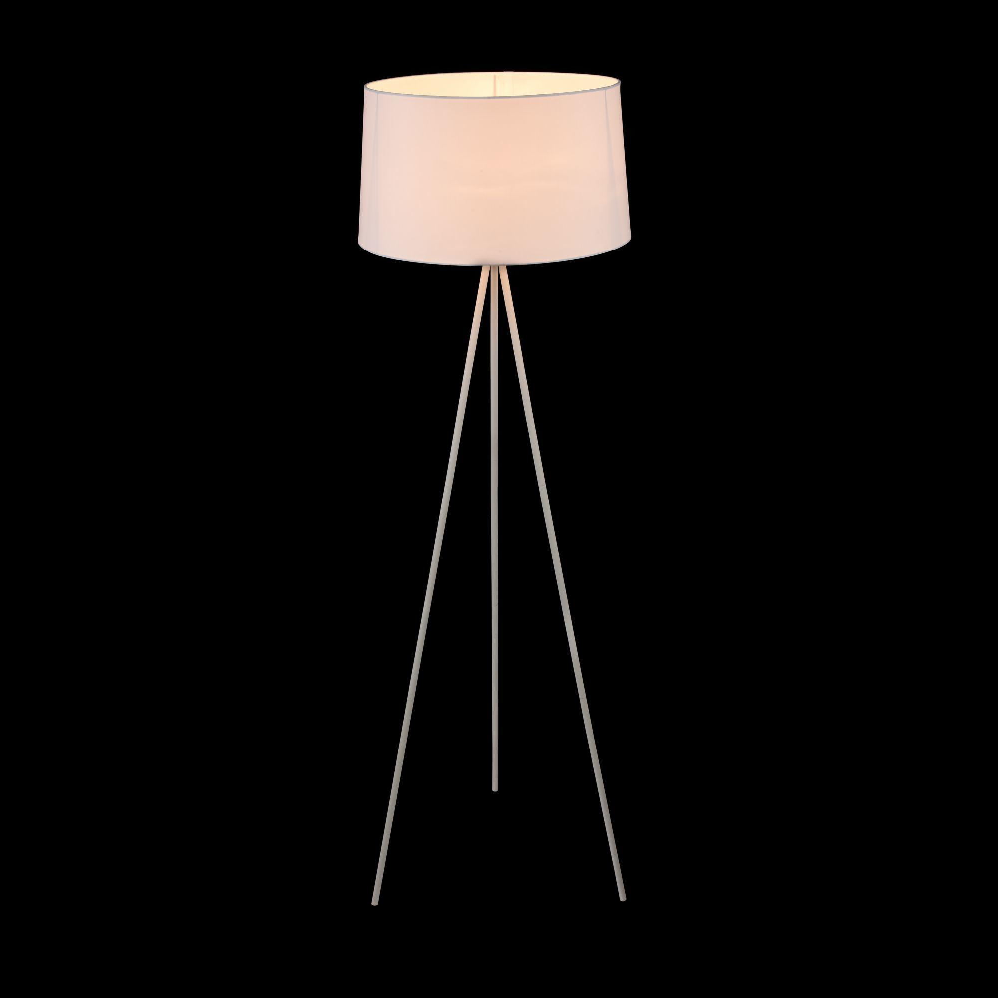 Торшер Freya Bonita FR5152-FL-01-W, 1xE27x40W, белый, металл, текстиль - фото 5