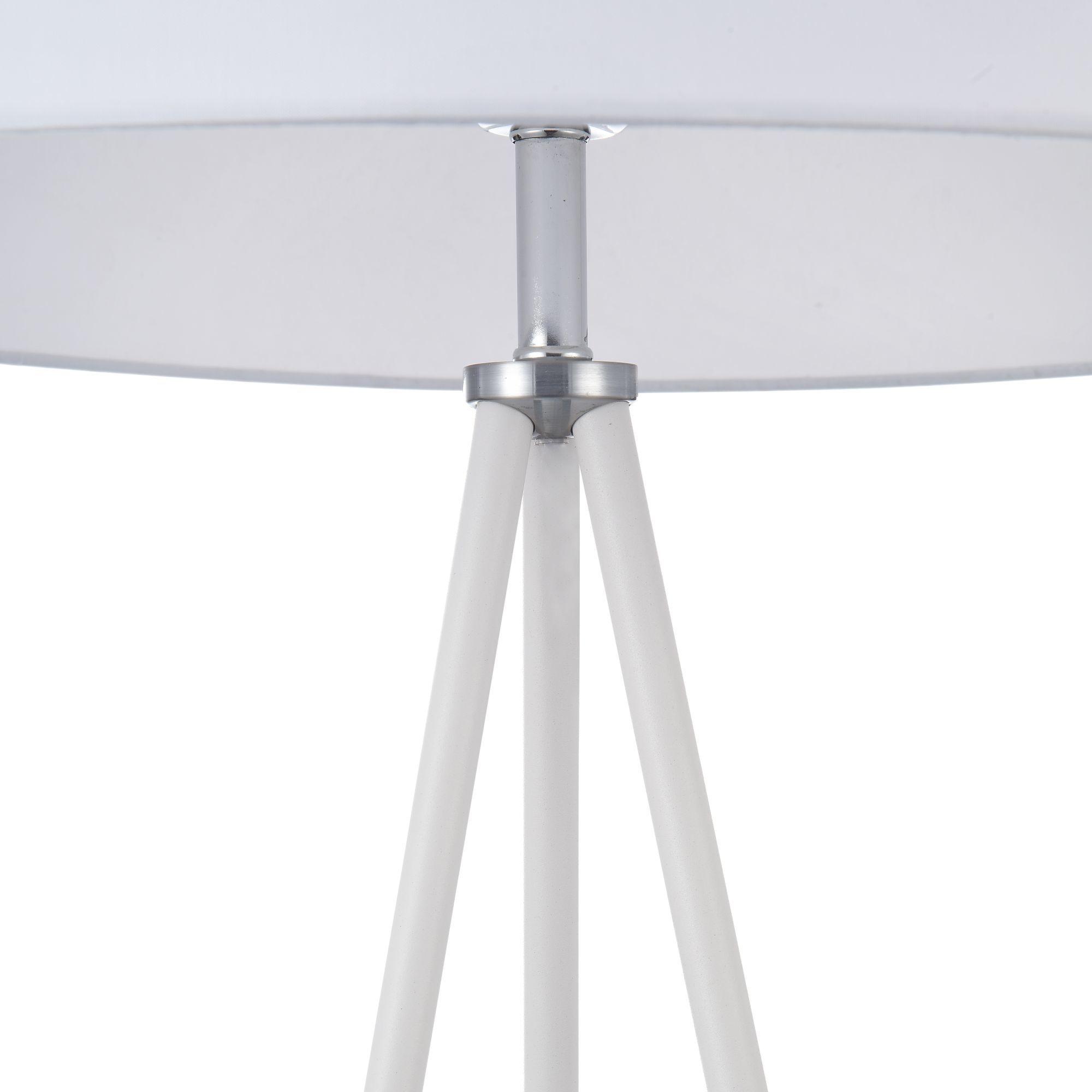 Торшер Freya Bonita FR5152-FL-01-W, 1xE27x40W, белый, металл, текстиль - фото 7