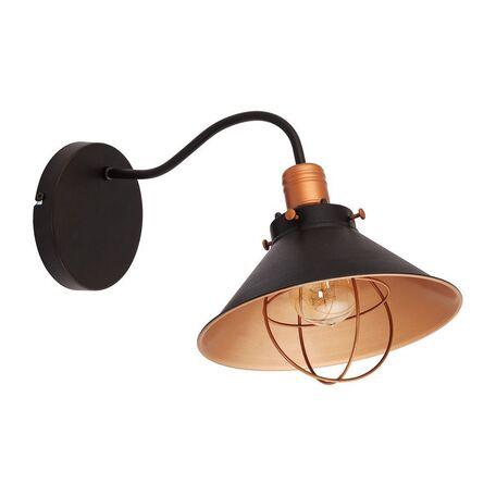 Бра Nowodvorski Garret 6442, 1xE27x60W, черный, медь, металл