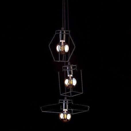 Люстра-каскад Nowodvorski Fiord 9666, 3xE27x60W, черный, металл
