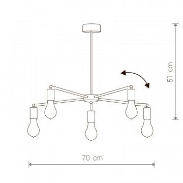 Схема с размерами Nowodvorski 9735