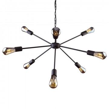 Подвесная люстра Nowodvorski Rod 9734, 9xE27x60W, черный, металл