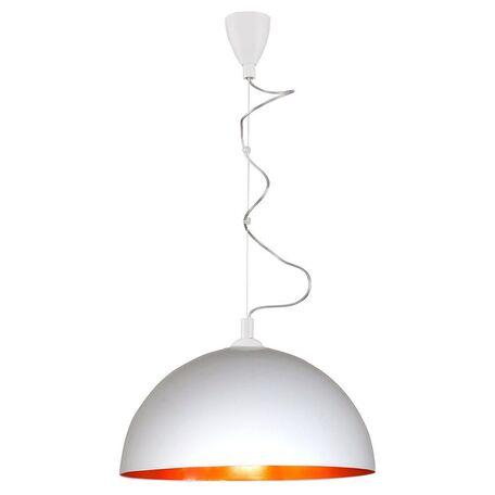 Подвесной светильник Nowodvorski Hemisphere 4842, 1xE27x100W, белый, матовое золото, металл